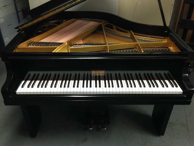 Allison English 4ft Art Deco Baby Grand Piano Restored And