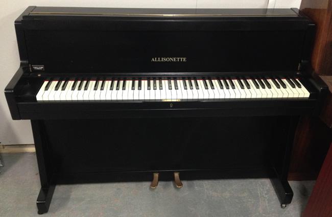 Allisonette English Mini Upright Piano In A Black Satin