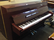 Waldstein upright in a Mahogany high gloss finish.