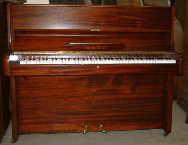 Collard Mahogany Second Hand Upright Piano Repolished