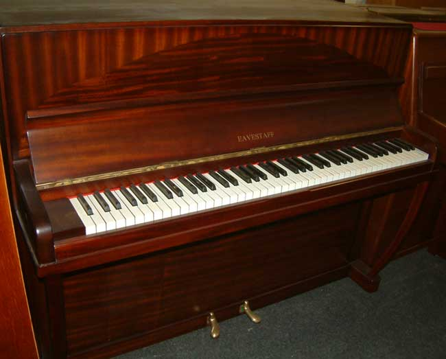 Eavestaff small traditional upright piano re polished for Small upright piano dimensions