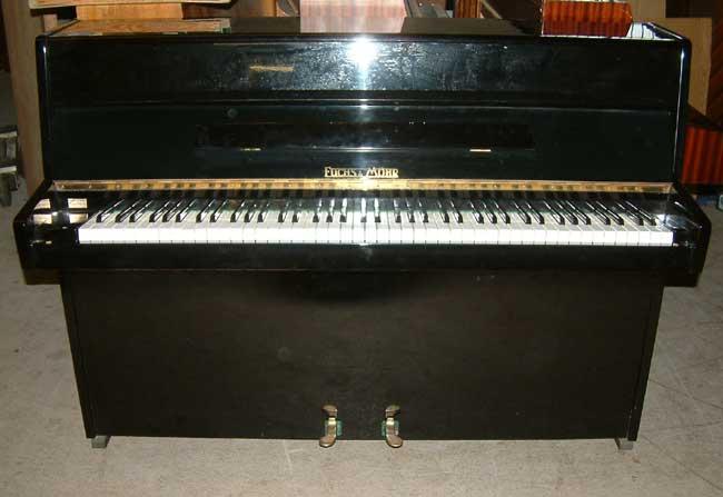 Fuchs Mohr Small Modern Upright Piano In A Black Gloss