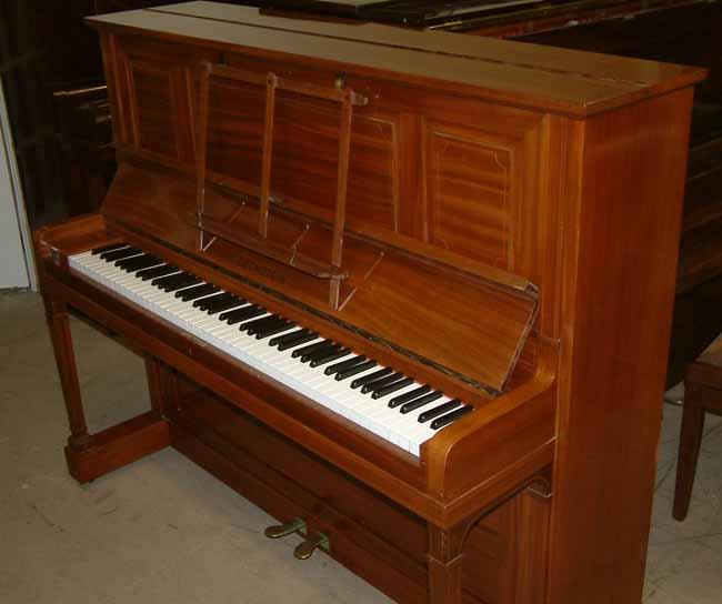 Bechstein Pianos Model 9 String Inlaid Fiddleback Mahogany