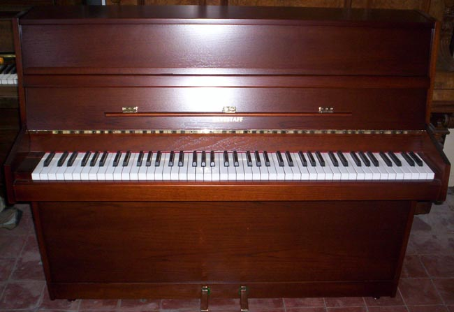 Eavestaff small modern upright piano re polished restored for Small upright piano dimensions