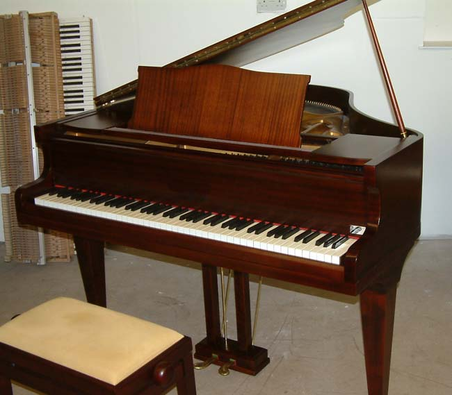 English 4ft 6in Mahogany Satin Baby Grand Piano
