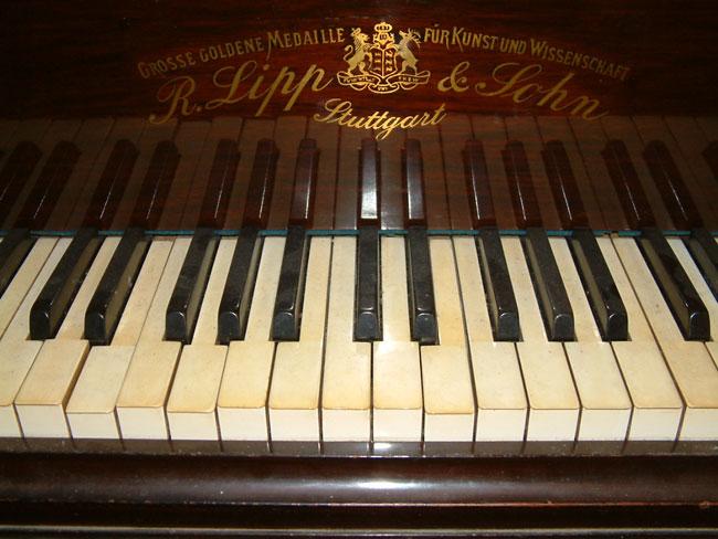 Rare German Richard Lipp Grand Piano In A Rosewood Cabinet