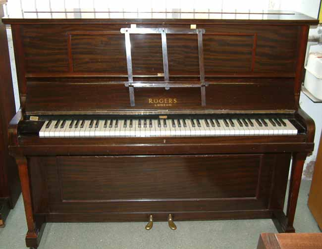 rogers traditional mahogany upright piano. Black Bedroom Furniture Sets. Home Design Ideas