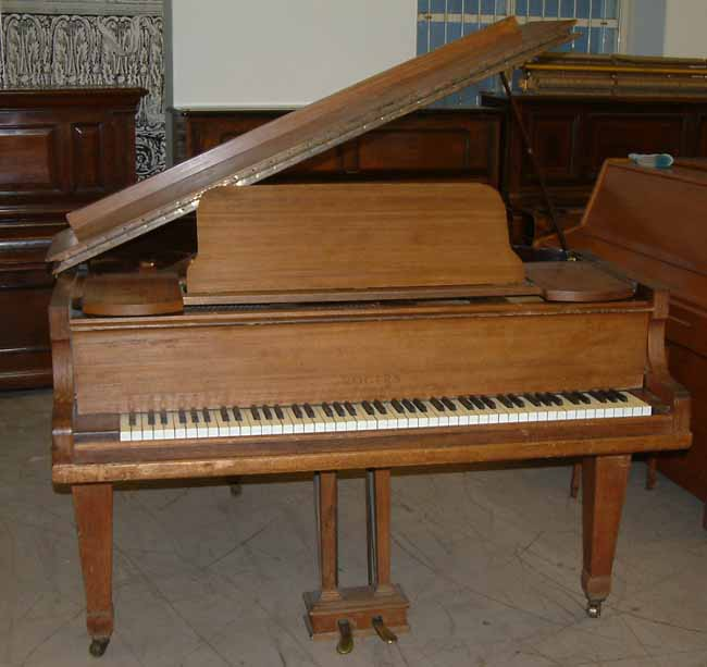 rogers 5ft grand piano re polished and restored in a rosewood satin finish. Black Bedroom Furniture Sets. Home Design Ideas
