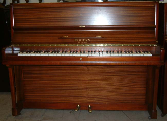 rogers english mahogany upright piano awaiting restoration. Black Bedroom Furniture Sets. Home Design Ideas