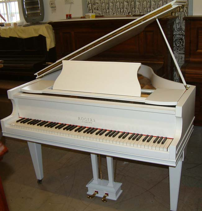 Rogers baby grand piano restored and re polished in a for How big is a baby grand piano