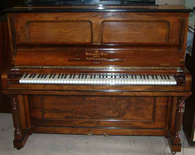 Steinway traditional 1903 rosewood second hand upright for Piano upright dimensions