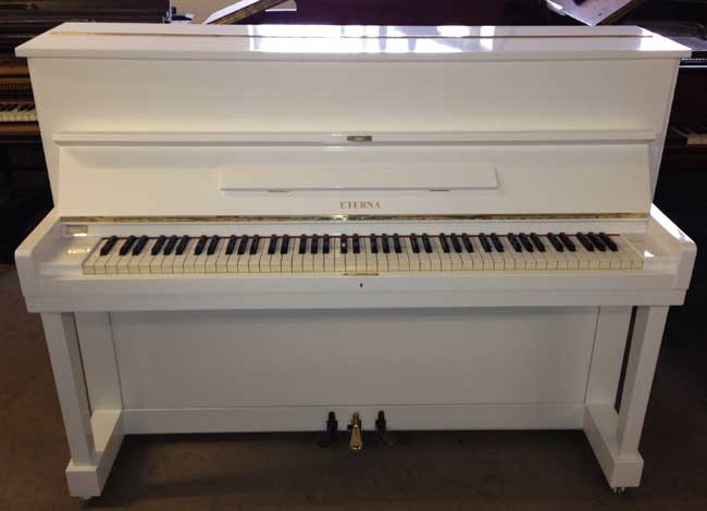 Eterna by yamaha restored upright piano in a white gloss for White yamaha piano