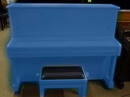 Blue Yamaha Piano
