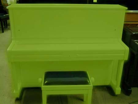 Green Yamaha Piano