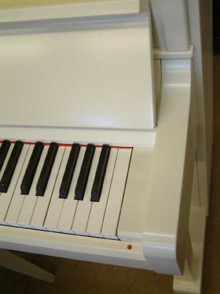 White Kawai Japanese Upright Pianos For Sale