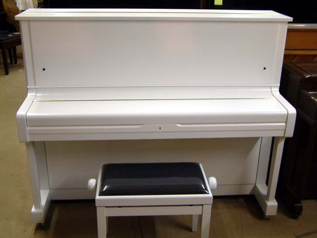 White satin piano