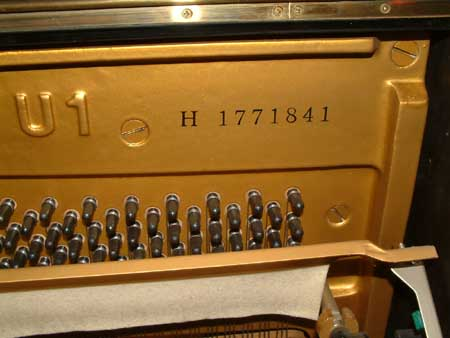 yamaha pianos and serial numbers