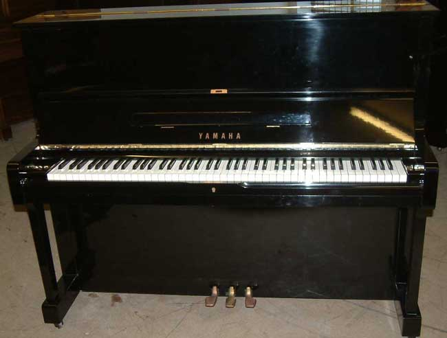 Black satin piano
