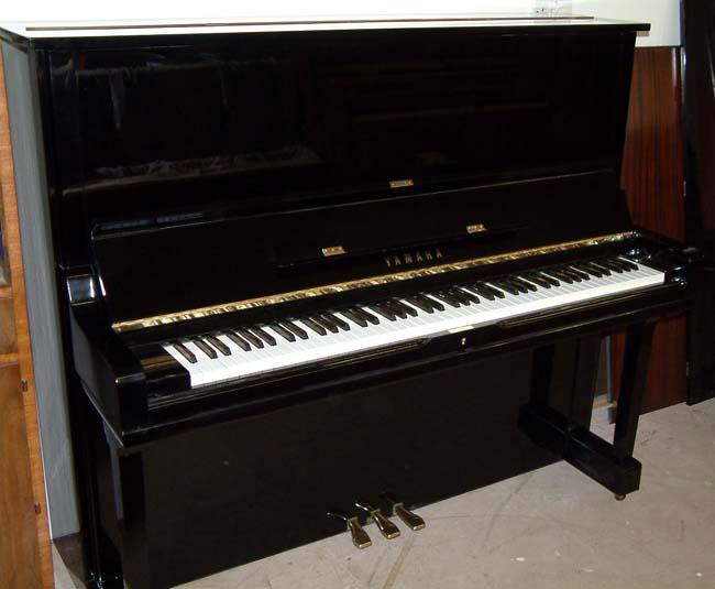 Yamaha u3 restored black gloss upright piano for sale for Used yamaha u3 upright piano