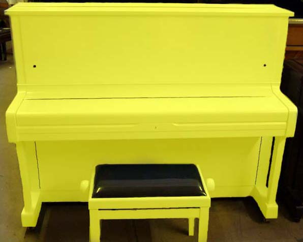 Canary Yellow Yamaha U1 Piano