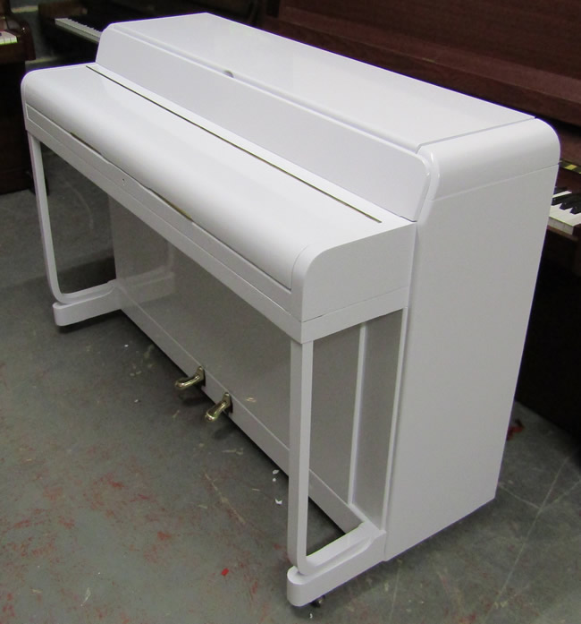 Kemble Minx piano wrapped in white gloss.