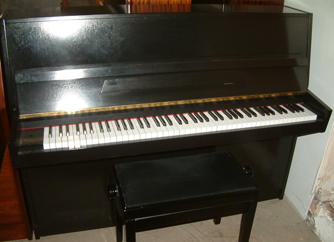 Klingmann Black Satin German Piano on Upright Piano Parts