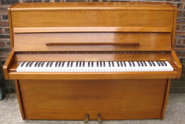 Modern Knight Upright Piano In A Walnut Gloss Cabinet