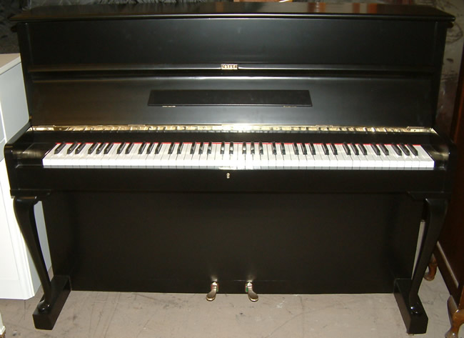 Legnica upright piano in a Black satin finish