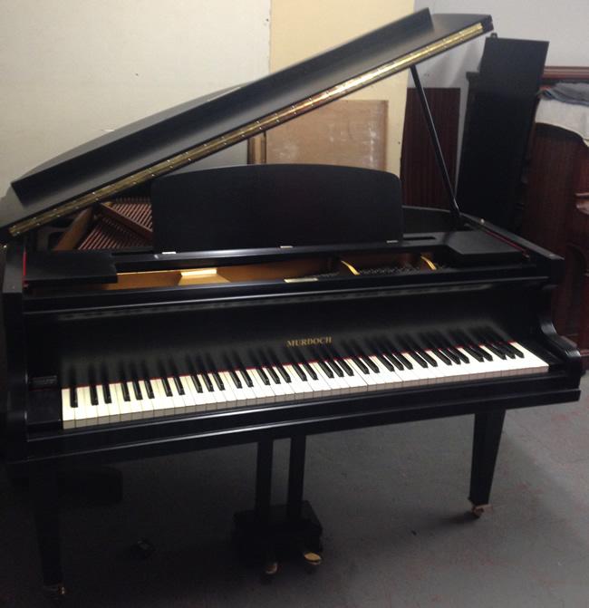 Murdoch English 4ft Black Satin Baby Grand Piano