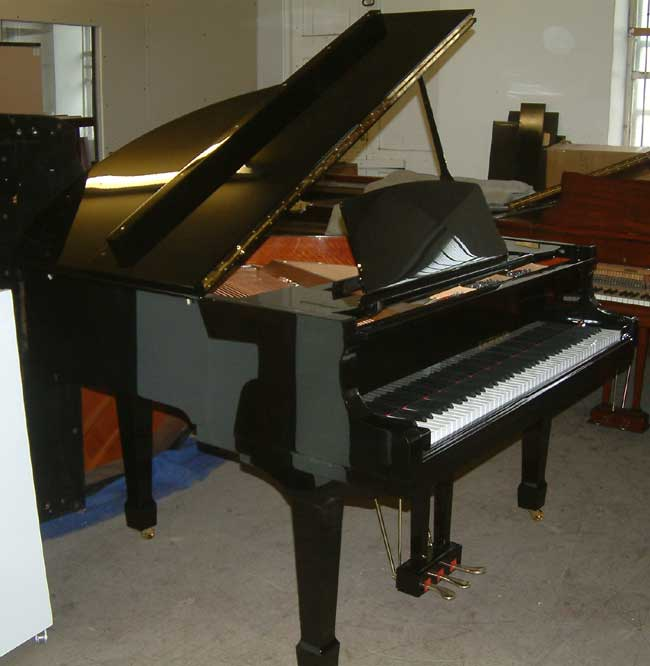 Kauffmann new black shiny baby grand piano
