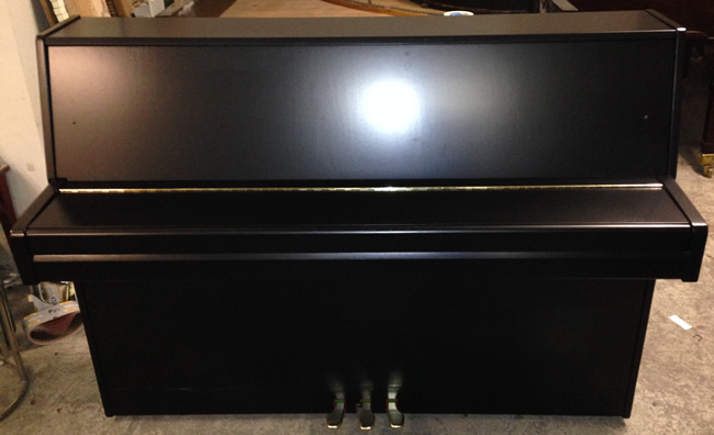 Reid black satin restored piano.