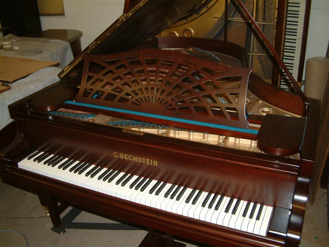 Bechstein Model B repolished in a Rosewood satin finish.