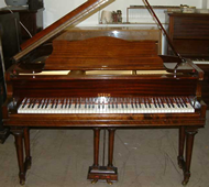 Steck baby grand piano to be reconditioned and repolished black or white satin.