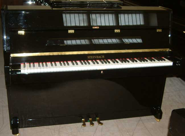 Steinbach 108b Small Modern Piano In A High Gloss Black