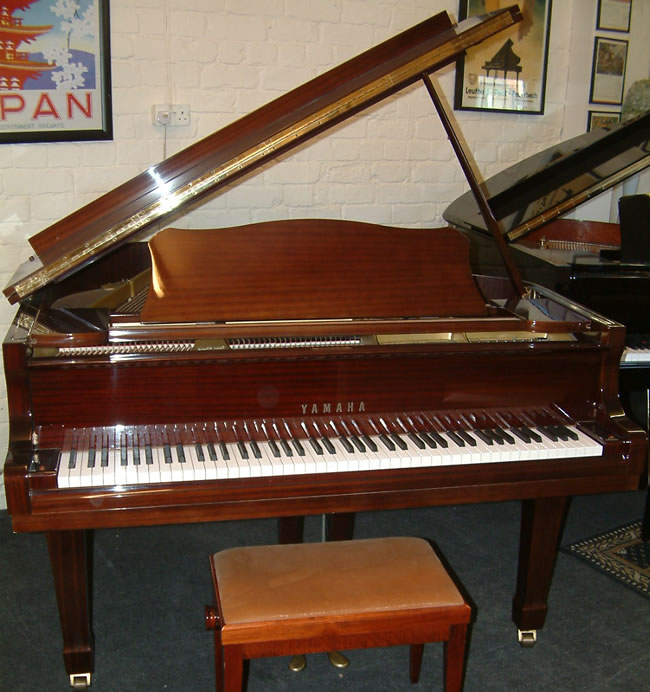 Yamaha g1 5ft 2in grand piano in a high gloss mahogany finish for Yamaha g1 piano