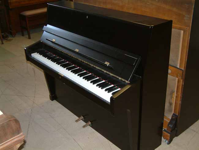 Black satin zender piano